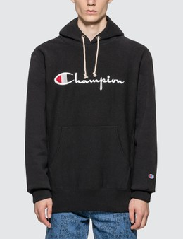 Champion Reverse Weave Big Script Hooded Sweatshirt