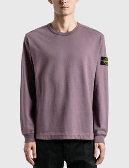 Stone Island Compass Patch Logo Long Sleeve T-Shirt