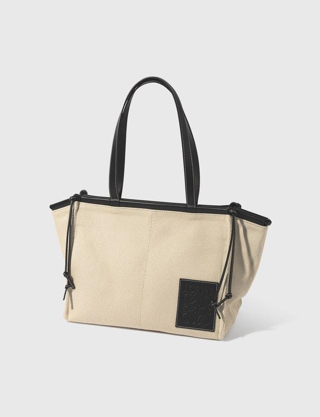 Loewe Cushion Tote Bag Light Oat/black Women