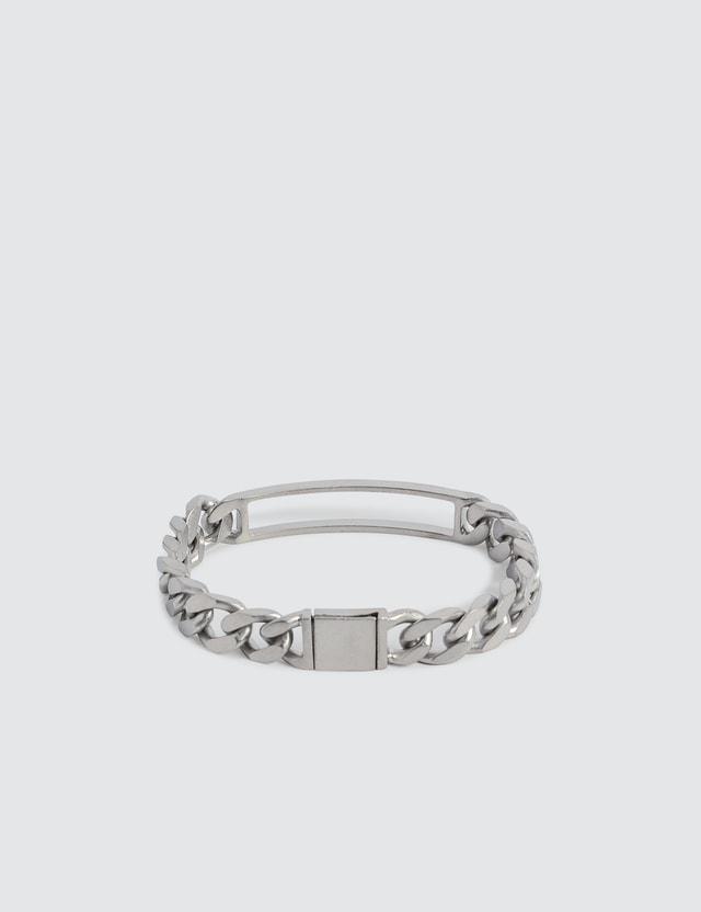 Maison Margiela Hollow Rectangle Silver Bracelet