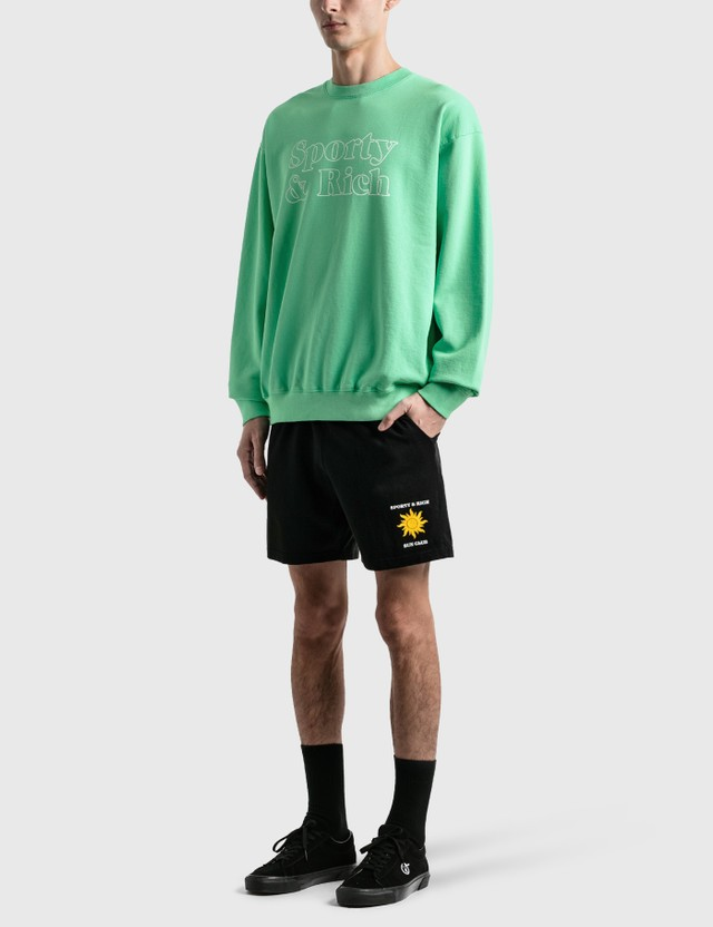 Sporty & Rich Fun Logo Crewneck Junior Mint/white Print Men