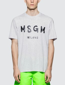 MSGM Brush Stroke Logo S/S T-Shirt