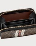 Burberry TB Monogram E-canvas Zip Around Wallet