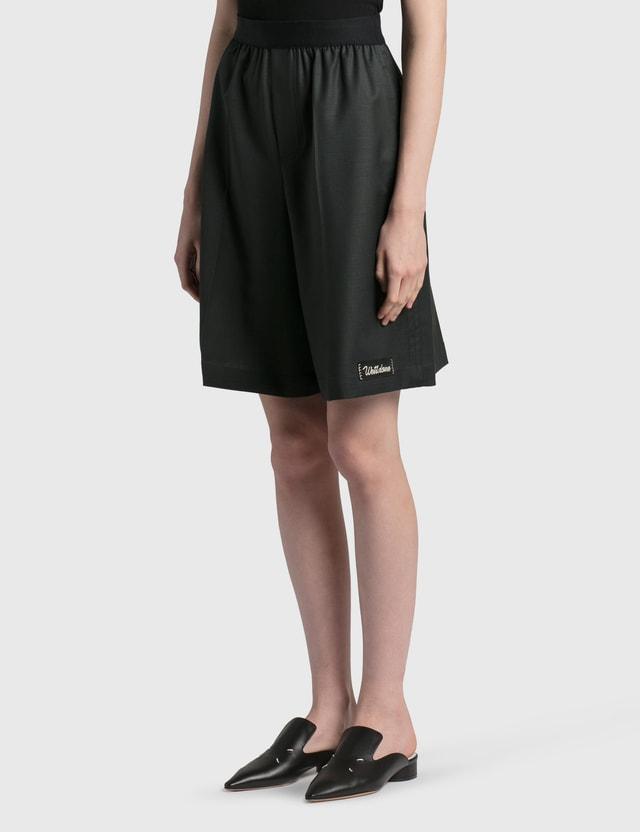We11done Elasticated Wool Blend Shorts Charcoal Women