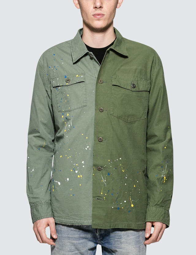 John Elliott Distorted Military Shirt