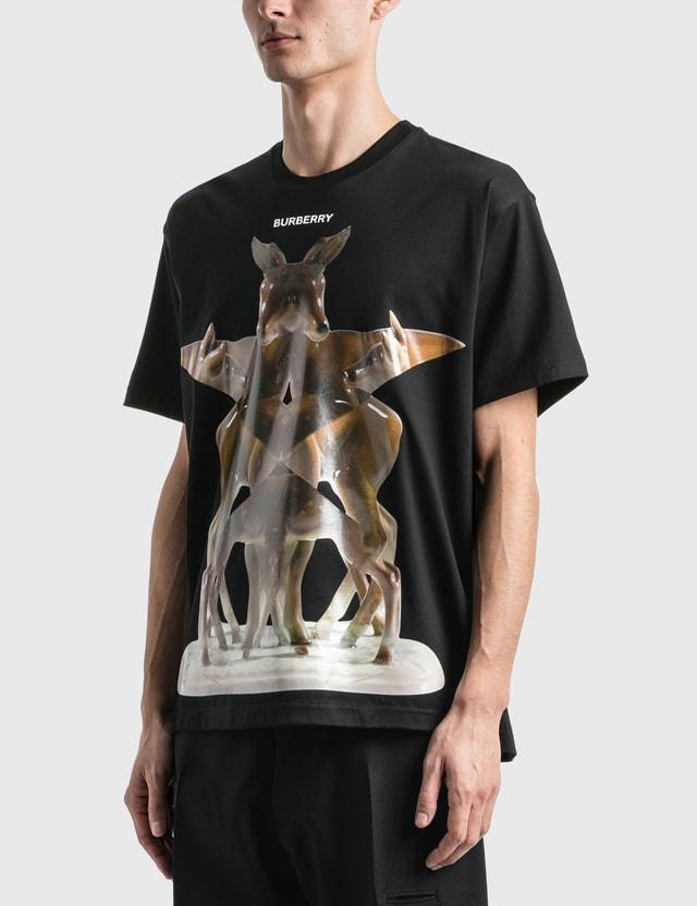 Burberry Kaleidoscope Print Cotton Oversized T-Shirt Black Men
