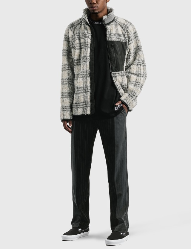 Pleasures Wraith Fleece Jacket Grey Men