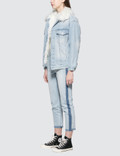SJYP Side Two Tone Straight Jeans