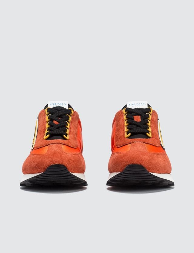 Prada Suede And Nylon Retro Sneakers