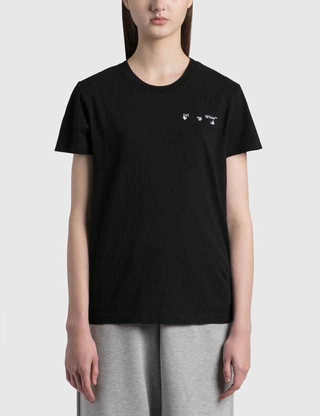 Off-White Arrow Liquid Melt Casual T-shirt Black Grey Women