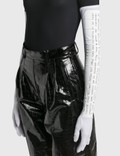 MM6 Maison Margiela Lycra Jersey Gloves White Women