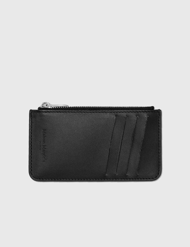 Maison Margiela Zip Card Holder Black/white Men