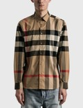 Burberry Check Stretch Cotton Poplin Shirt Picture