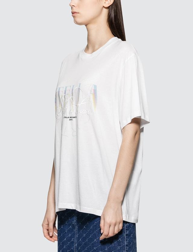 Stella McCartney Multilogo T-shirt White Women