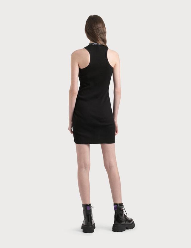 Aries Keyhole Ribbed Dress