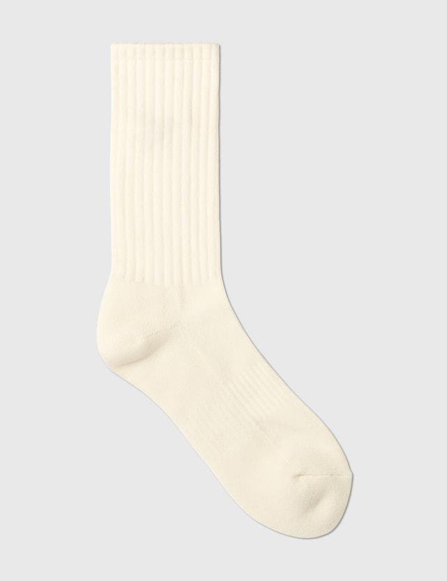 Human Made Duck Pile Socks White Men