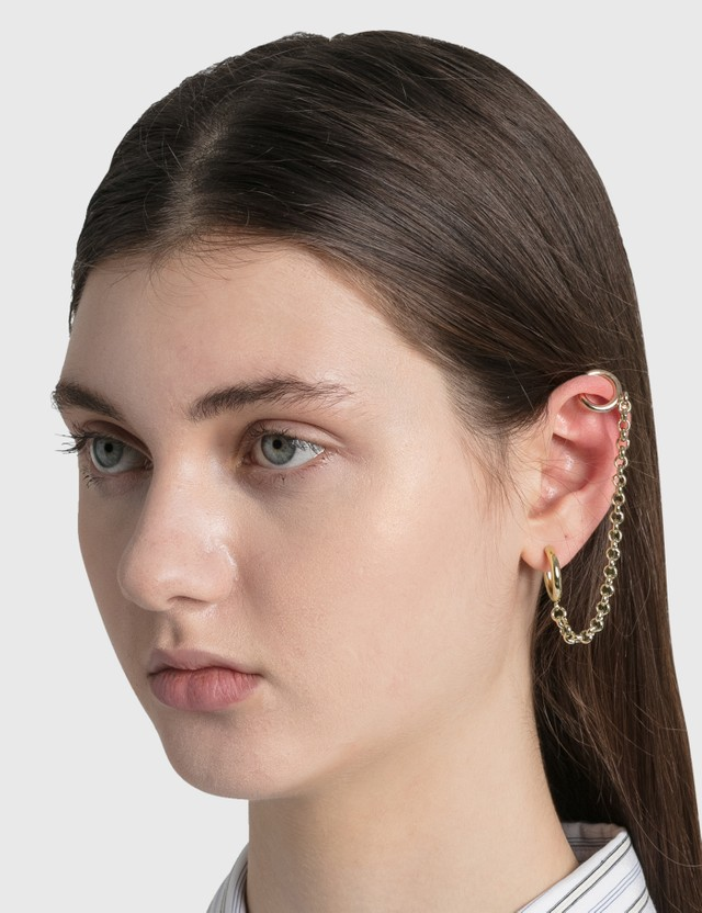 Justine Clenquet Mickee Earring Gold Women
