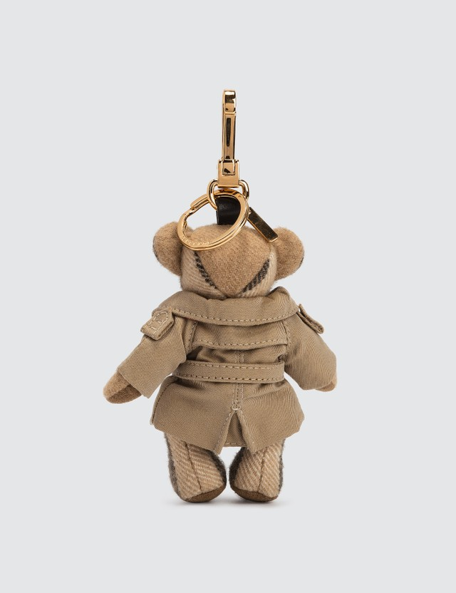 Burberry Thomas Bear Cashmere Charm in Trench Coat
