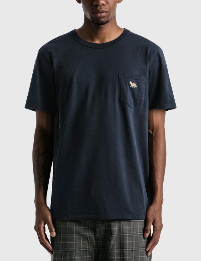 Maison Kitsune Profile Fox Patch Pocket T-shirt Navy Men
