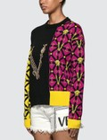 Versace Patchwork Motif Knitted Sweater Multicolor Women