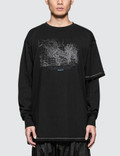 Guerrilla-group Asymmetrical Layered Sleeves T-shirt Picture