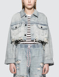 Alexander Wang Blaze Crop Denim Jacket Picture