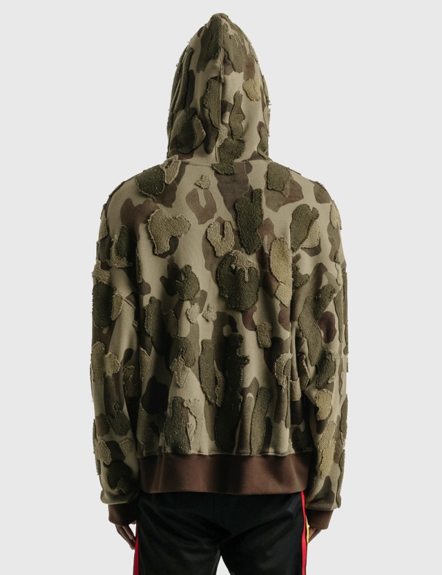 Palm Angels Camo Embroidered Hoodie Brown Men