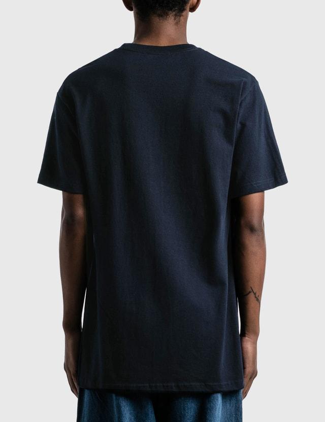 Saintwoods Big Mountain Logo T-shirt Navy Blue Men