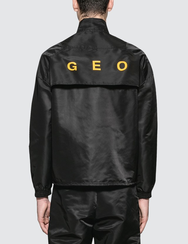 GEO Pull Over Track Jacket Black Men