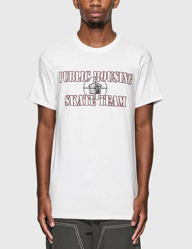 Public Housing Skate Team Logo T-Shirt White Men