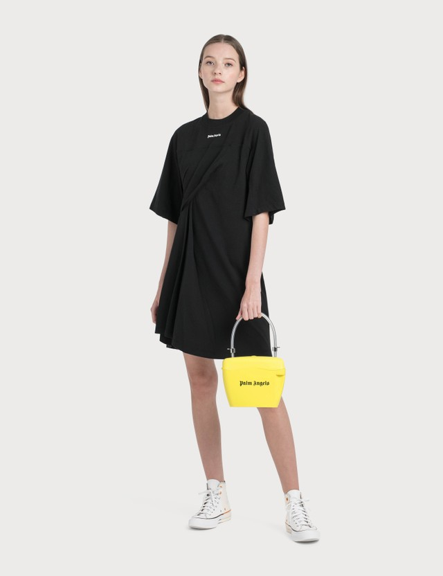 Palm Angels Logo Draped Dress
