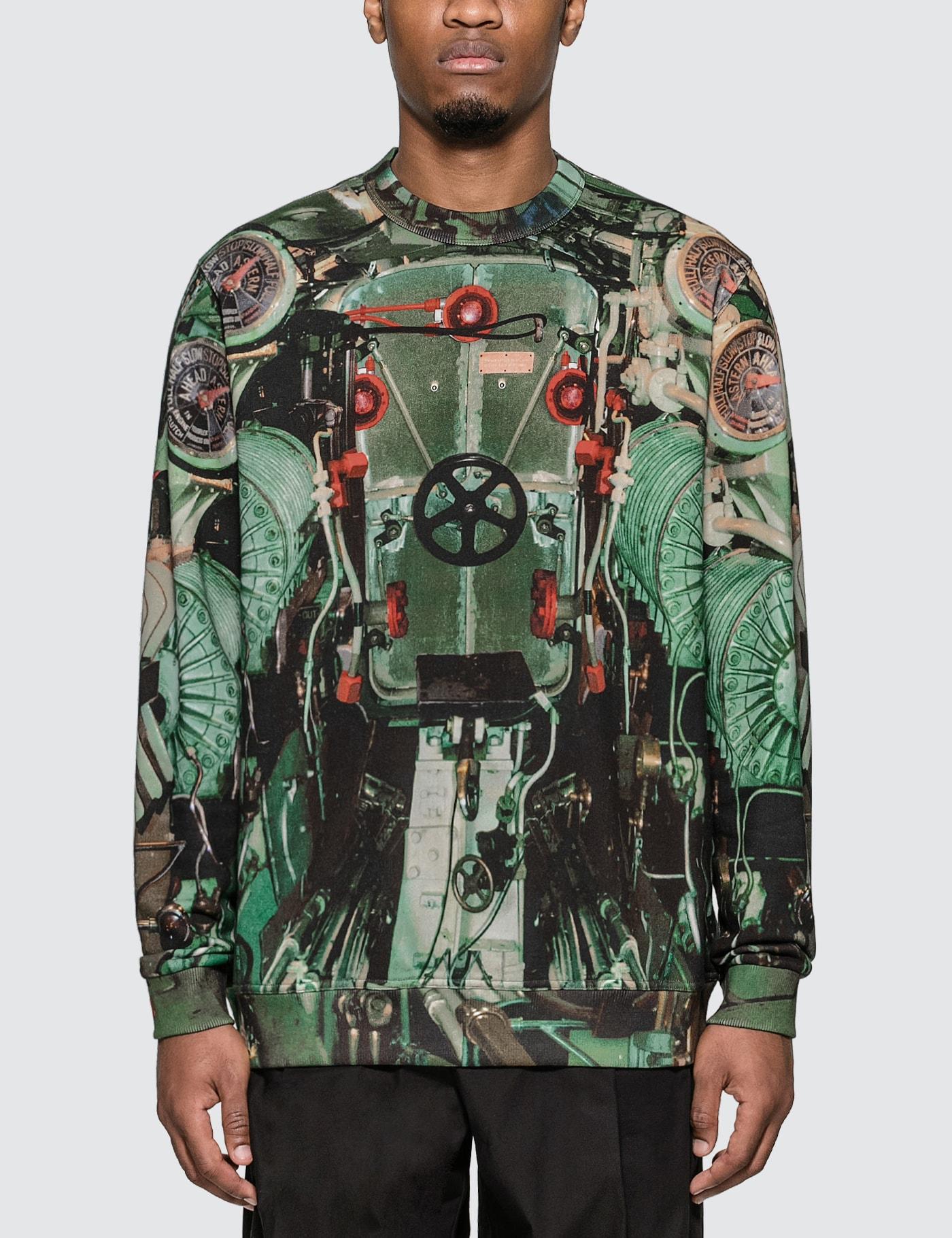 Submarine Print Cotton Sweatshirt