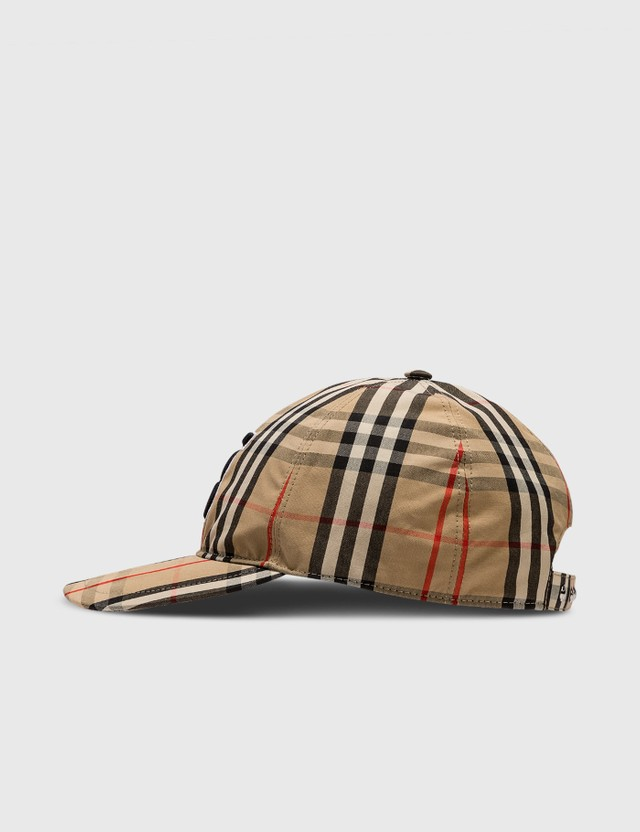 Burberry Monogram Motif Vintage Check Cotton Baseball Cap Antique Yel Ip Chk Women