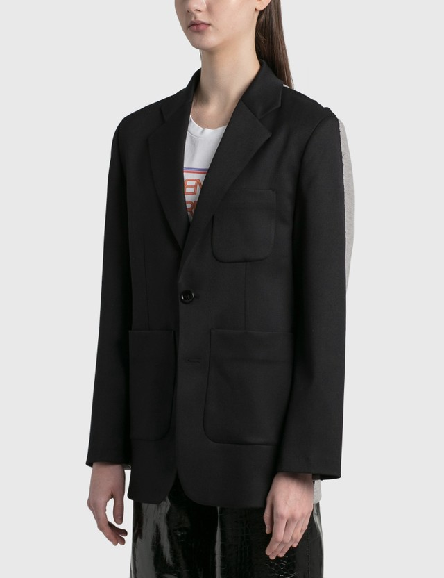 MM6 Maison Margiela Spliced Blazer Black + Grey Women