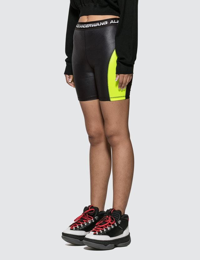 Alexander Wang.T Wash & Go Satin Jersey Biker Shorts