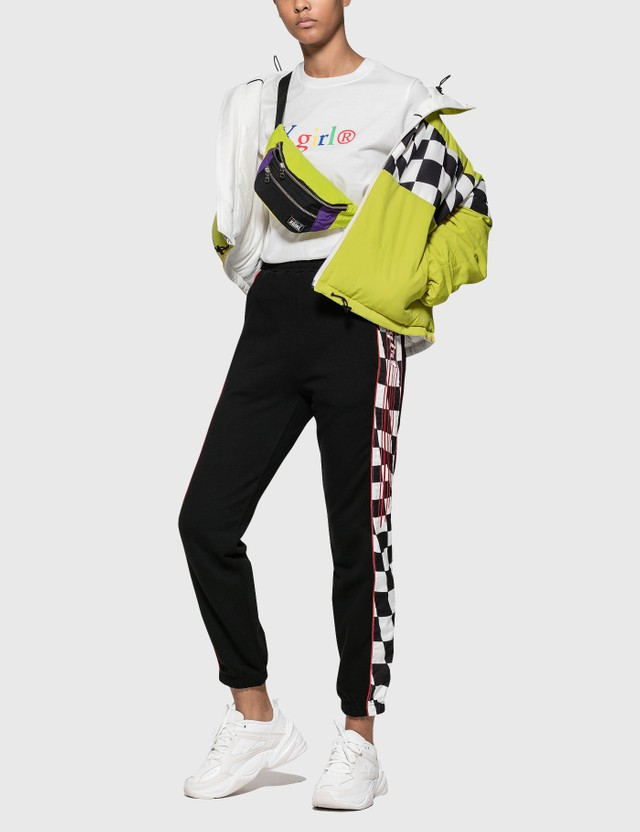 X-Girl Color Block Hip Bag Yellow Women