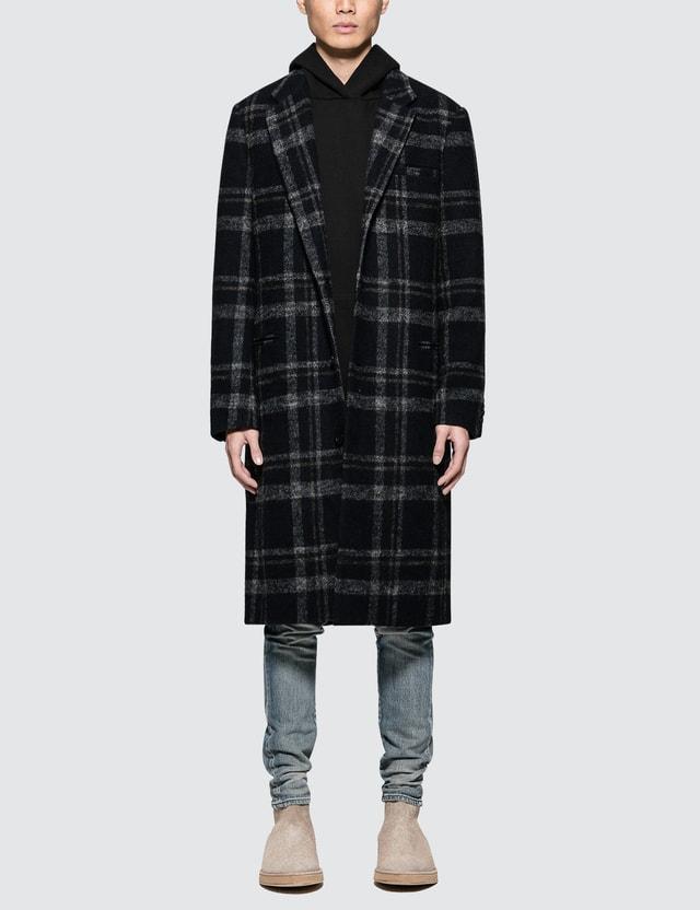 John Elliott Plaid Overcoat