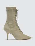 Yeezy Season 6 Women's Lace Up Ankle Boot In Stretch Canvas 90mm Heel Picture