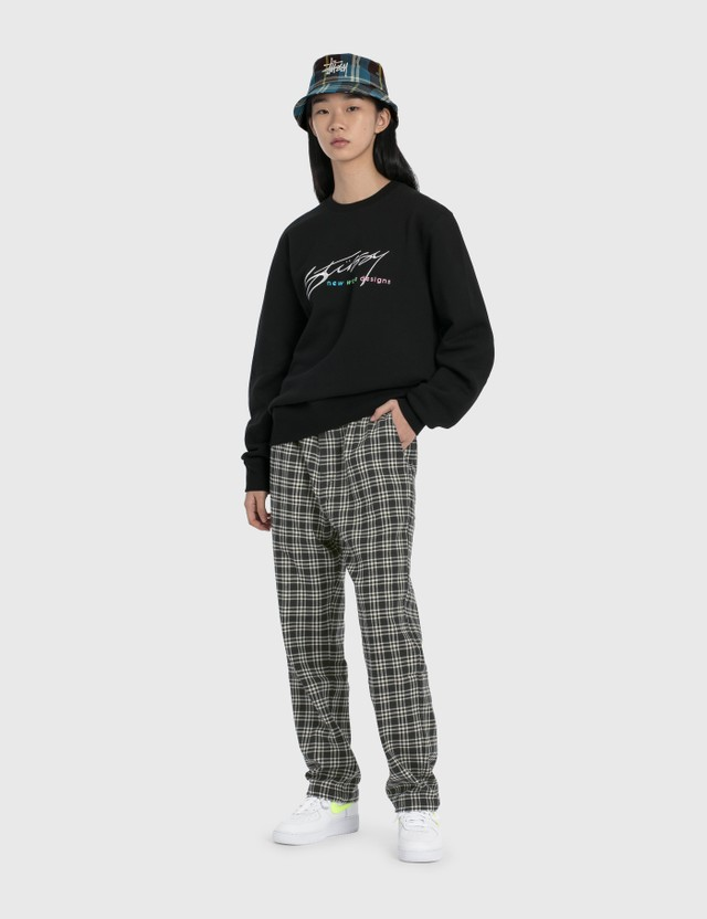 Stussy New Weave Designs Applique Crew Sweatshirt