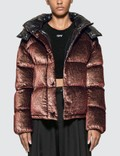 Moncler Velvet Lurex Down Metal Down Jacket With Detachable Hood Picutre