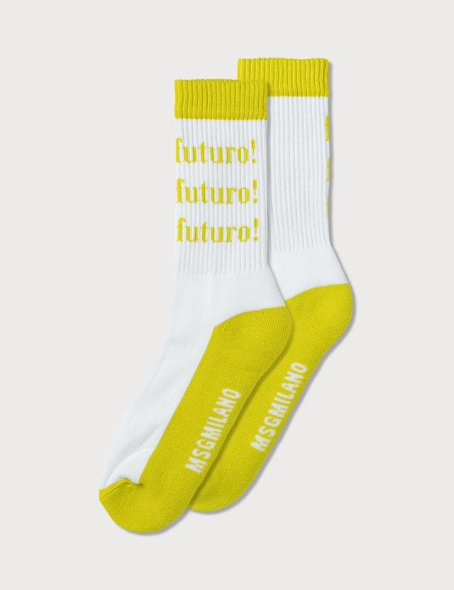 MSGM Futuro Logo Socks