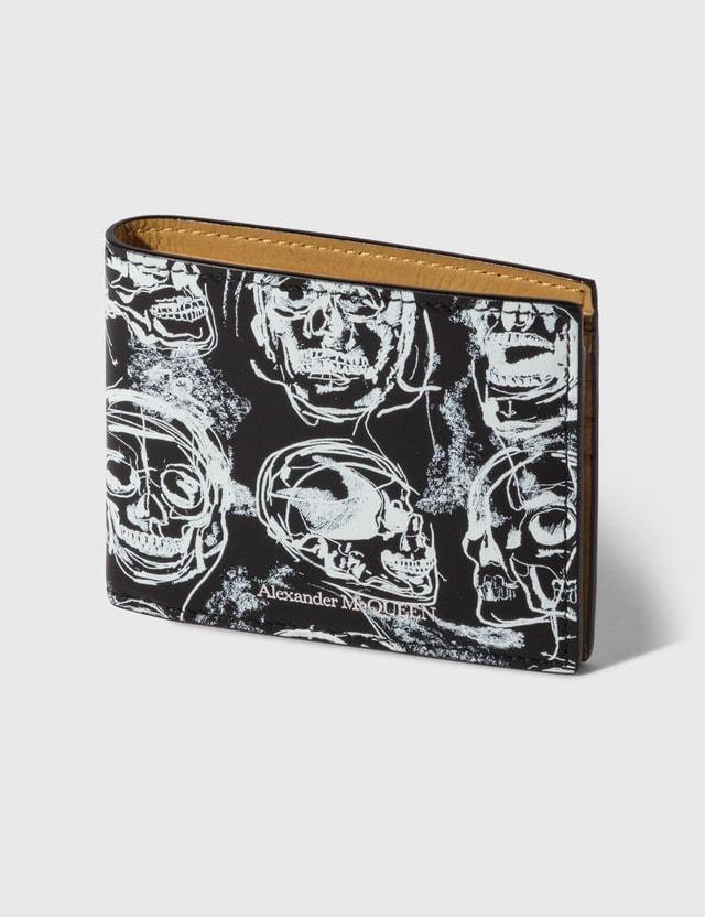 Alexander McQueen Painted Skull Wallet Black/white Men