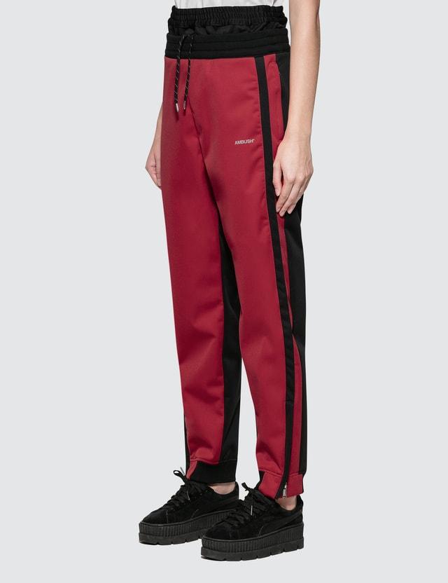 Ambush Layered Track Pants Red Women