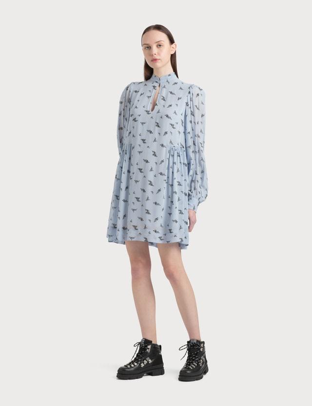 Ganni Printed Georgette Mini Dress