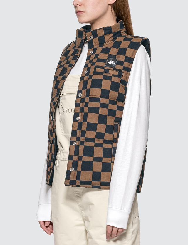 Stussy Sabi Checker Puff Vest