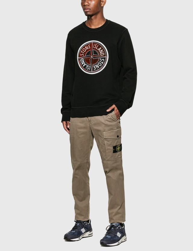 Stone Island Compass Logo Sweatshirt Nero Men