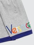 Versace Multicolor Versace Font Sweatshorts Grigio Mel+oceano+ulti Kids
