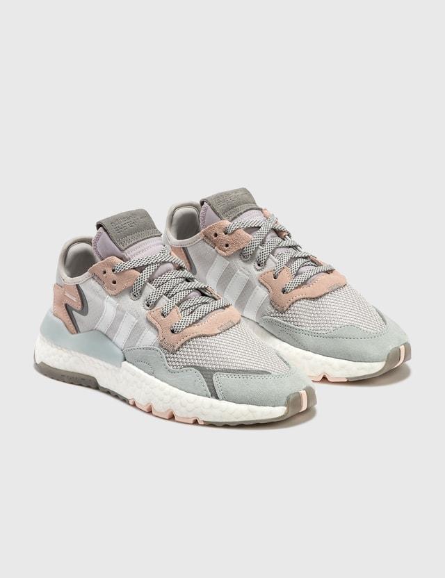 Adidas Originals Nite Jogger Greone/ftwwht/pnktin Women