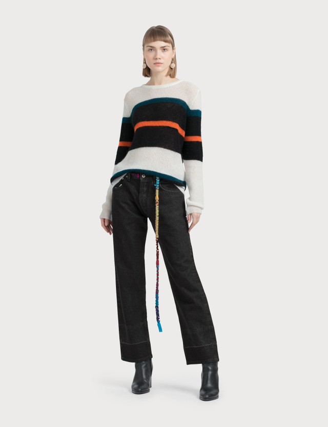 Loewe Embroidered Knot 5 Pkt Jeans