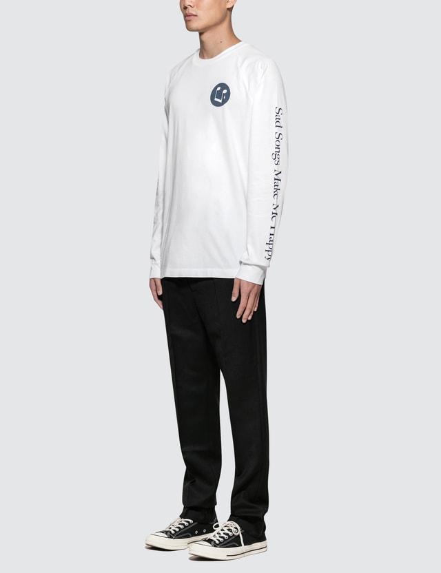 Wood Wood Han L/S T-Shirt White Men